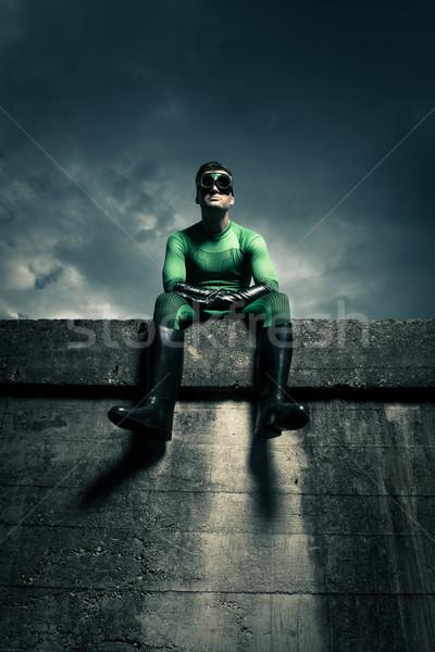 Superhero looking away Stock photo © stokkete