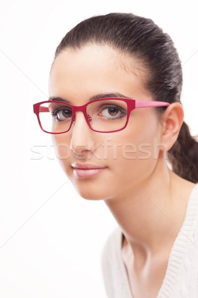 Giovani femminile modello indossare moda occhiali Foto d'archivio © stokkete