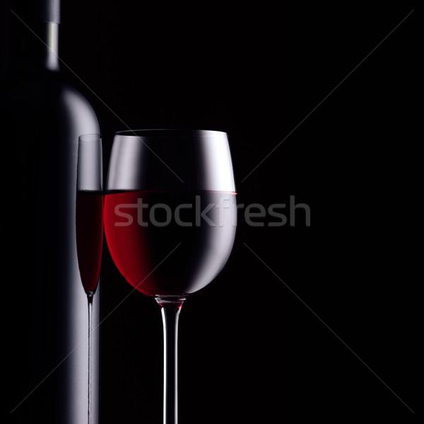 Rode wijn proeverij uitstekend viering wijnfles vol Stockfoto © stokkete