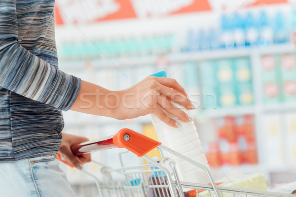 Shopping at the supermarket Stock photo © stokkete