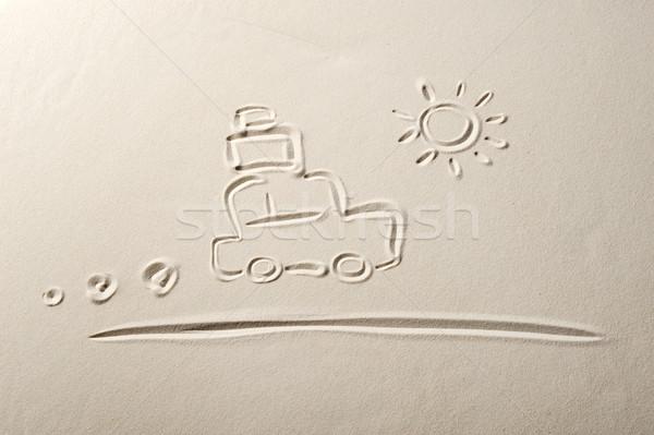 Tengerpart utazás ünnepek utca homok Stock fotó © stokkete