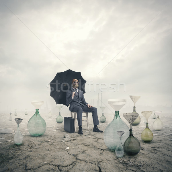 concept of global warming: Environmental Damage Stock photo © stokkete