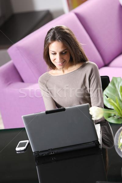 De trabajo portátil ordenador Internet tecnología Foto stock © stokkete