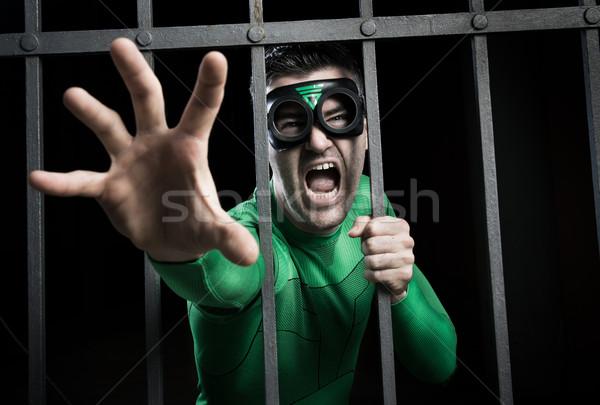 Gevangenis boos groene Stockfoto © stokkete