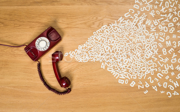 Phone call concept with plastic letters Stock photo © stokkete