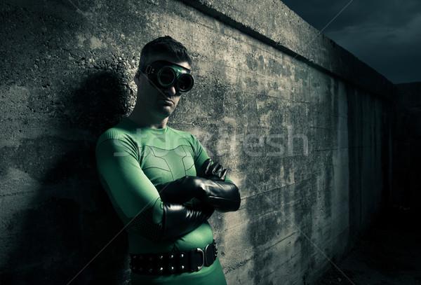 Cool superhero Stock photo © stokkete