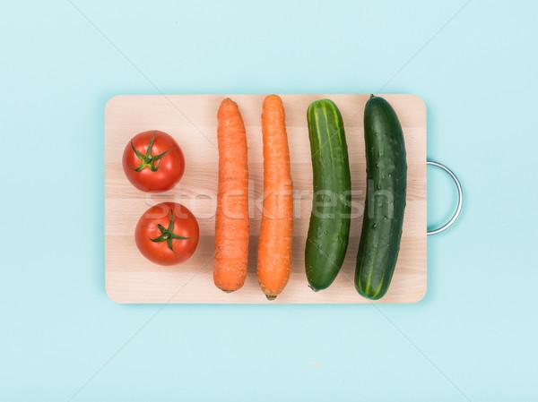 Foto stock: Fresco · orgânico · legumes · preparação · de · alimentos