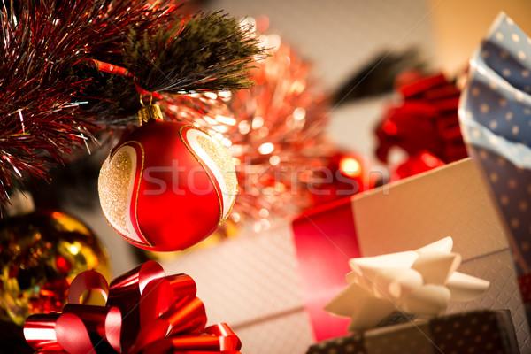Natal presentes bugiganga primeiro plano Foto stock © stokkete