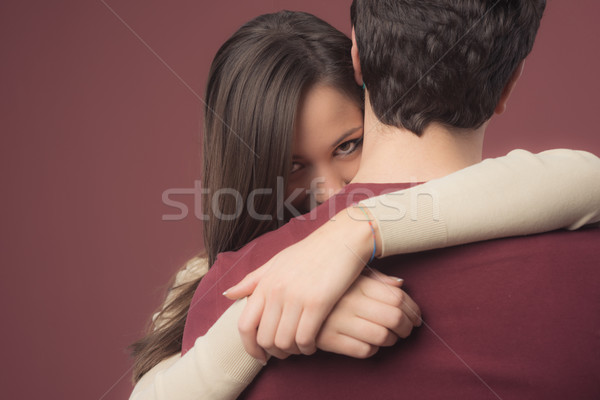 Smiling girl with her boyfriend Stock photo © stokkete