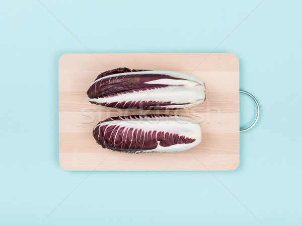 Red chicory on a chopping board Stock photo © stokkete