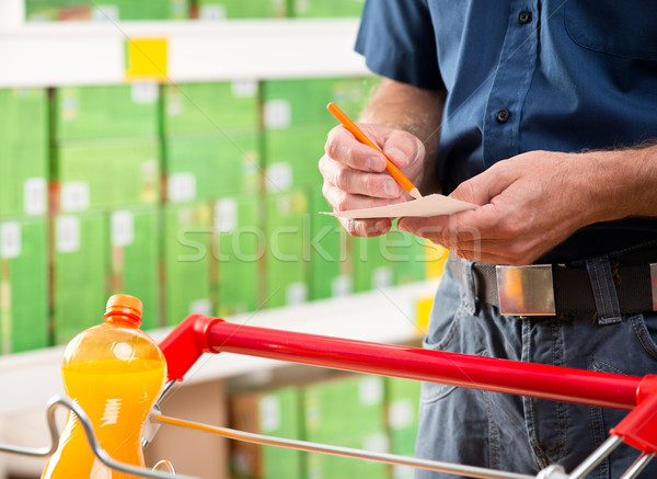 Checking shopping list Stock photo © stokkete