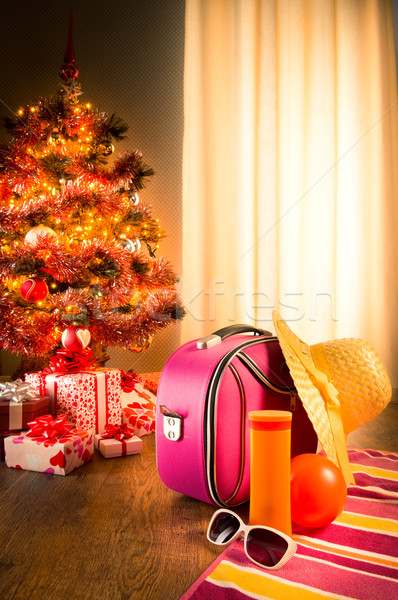 Christmas sun holidays Stock photo © stokkete