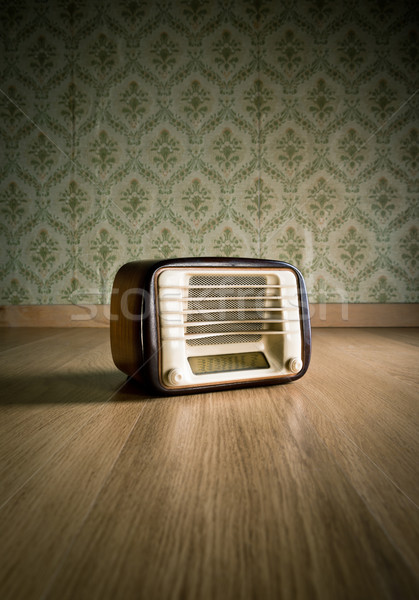 Vintage radio on the floor Stock photo © stokkete