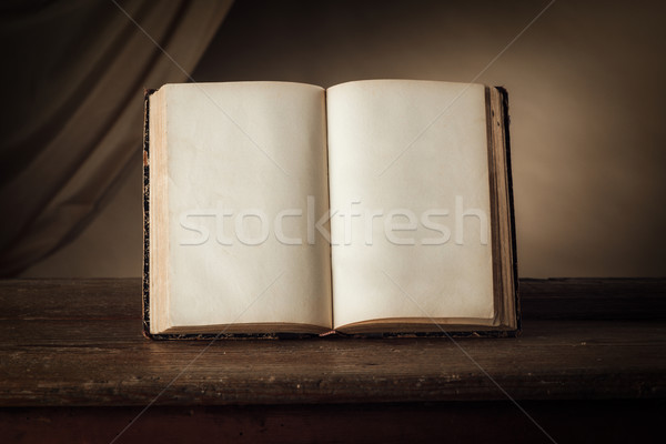 Conoscenza potere open antica libro vecchio Foto d'archivio © stokkete