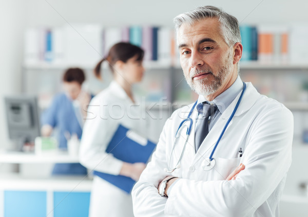 Confident doctor in the office Stock photo © stokkete