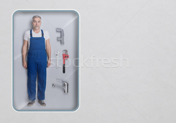 Realistic plumber doll Stock photo © stokkete