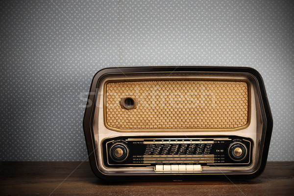 antique radio on vintage background Stock photo © stokkete