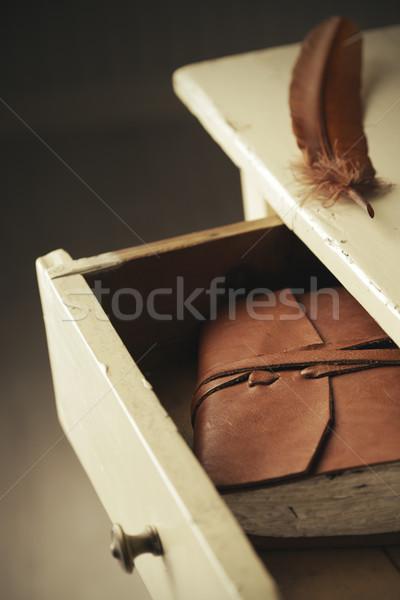 тайну дневнике старые выдвижной ящик Сток-фото © stokkete