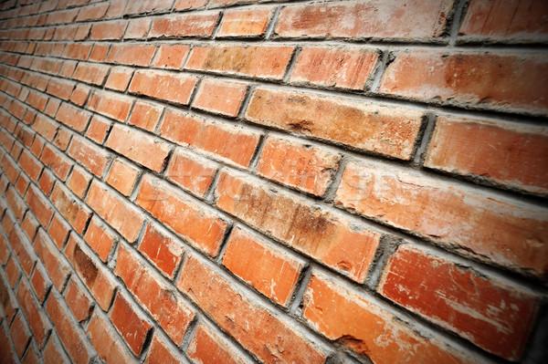 Parede de tijolos parede tijolo padrão sujo Foto stock © stokkete