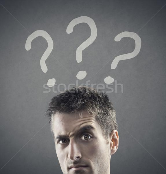 Thinking Man Stock photo © stokkete