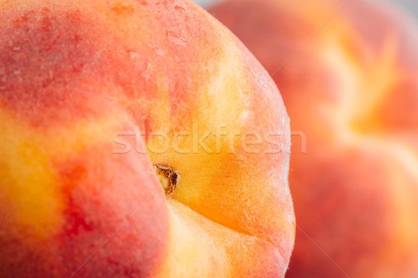 Fresco pêssego saboroso nectarina alimentação saudável Foto stock © stokkete