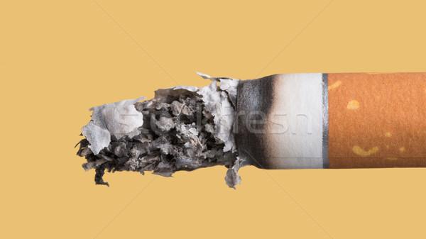 Papierosów palenie żółty stop palenia Zdjęcia stock © stokkete