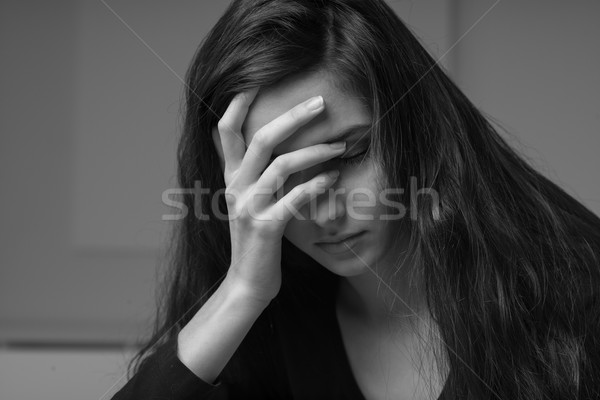 Depressed woman portrait Stock photo © stokkete