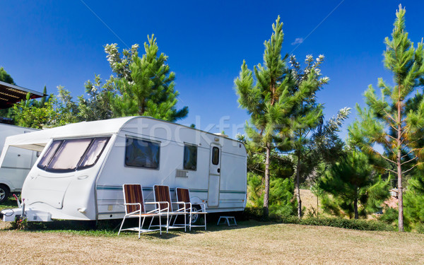 Caravans  camping Stock photo © stoonn