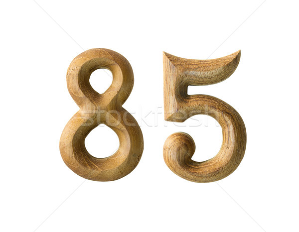 Stock photo: Wooden numeric 85
