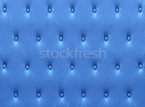 Pattern of blue leather seat upholstery Stock photo © stoonn