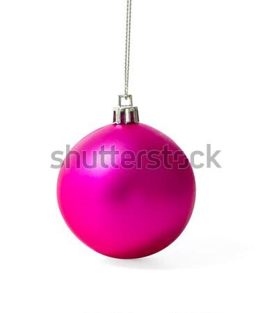 Pink Christmas ball Stock photo © stoonn