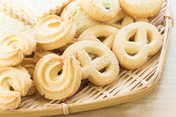 Cookies бамбук чаши корзины десерта Сток-фото © stoonn