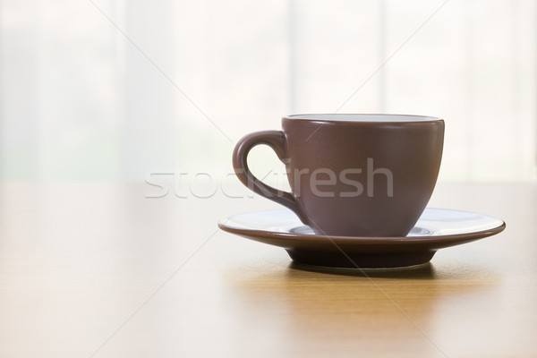 чашку кофе коричневый Кубок кофе продовольствие Сток-фото © stoonn