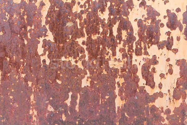 Textúra öreg fém acél fal rozsda Stock fotó © stoonn