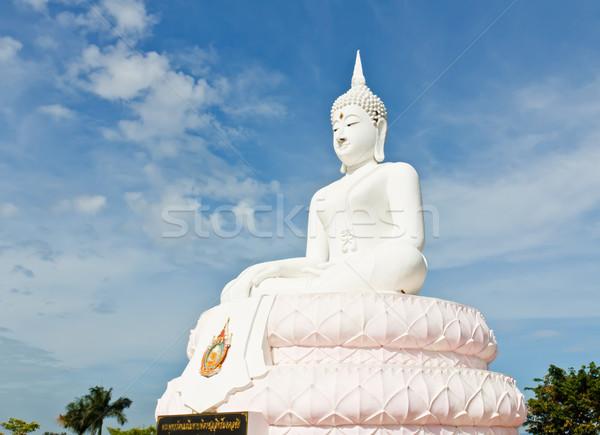 White Buddha statue  Stock photo © stoonn