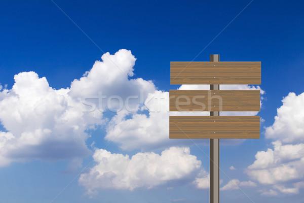 Foto stock: Blue · sky · negócio · quadro · assinar · espaço