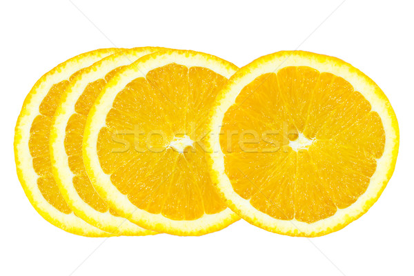 Fatia fatia de laranja laranja isolado branco natureza Foto stock © stoonn