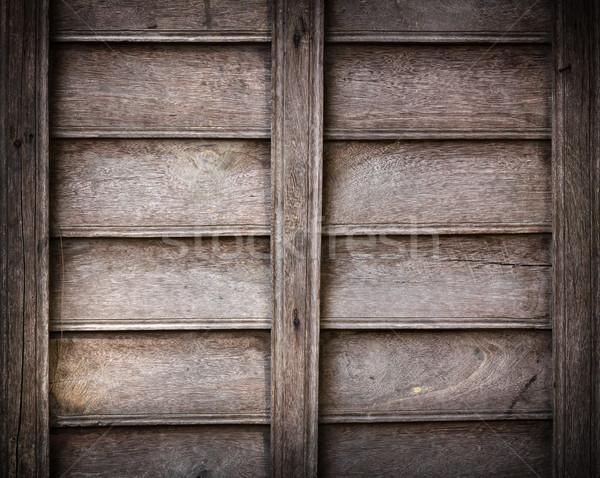 Eski ahşap yıpranmış ahşap panel doku Stok fotoğraf © stoonn