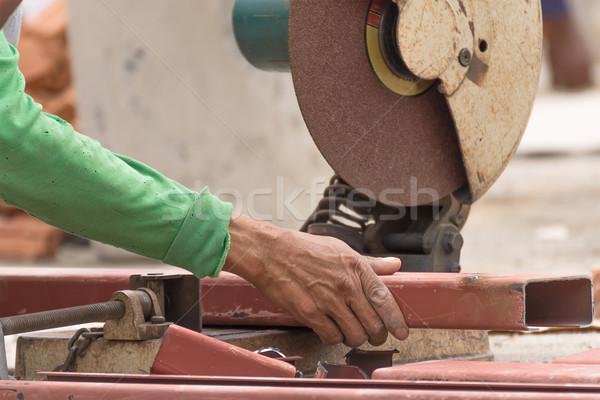 Işçi Metal öğütücü sparks Stok fotoğraf © stoonn