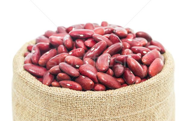 Nier bonen hout beker witte Stockfoto © stoonn