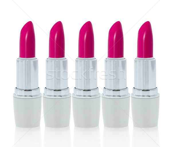Pink lipstick isolated  on white background Stock photo © stoonn