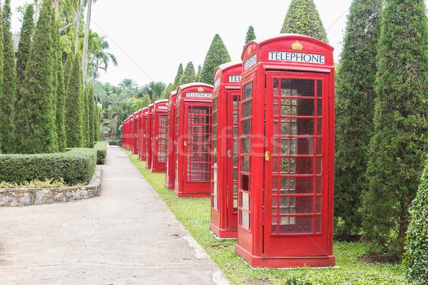 Britânico vermelho telefone cabine clássico Foto stock © stoonn