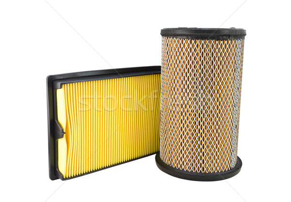 Powietrza filtrować odizolowany biały papieru Zdjęcia stock © stoonn