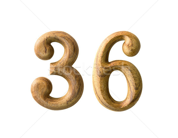 wooden numeric 36 Stock photo © stoonn