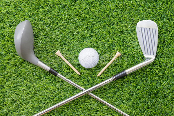 スポーツ オブジェクト ゴルフ クラブ ボール ストックフォト © stoonn