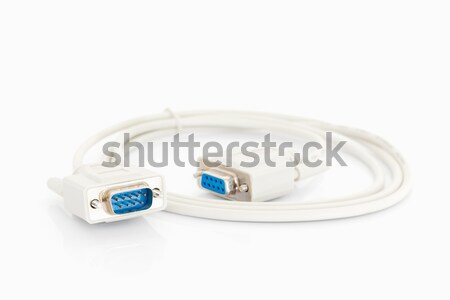 VGA cables connector with white cord Stock photo © stoonn