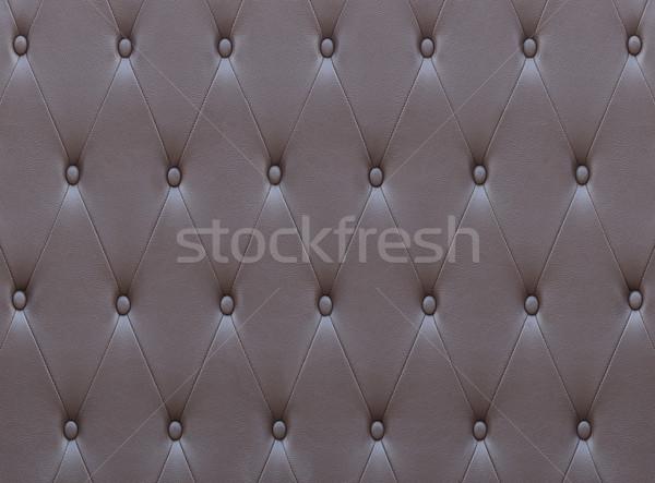 Wzór brązowy skóry siedziba tapicerka ściany Zdjęcia stock © stoonn