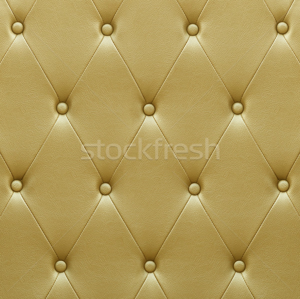 Luxurious golden leather  seat upholstery Stock photo © stoonn