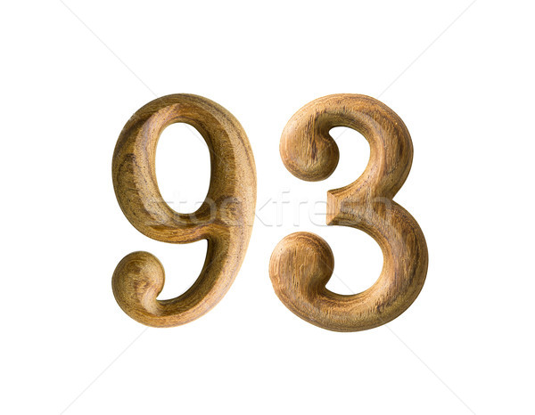 Wooden numeric 93 Stock photo © stoonn