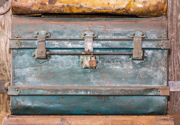 Old metal  treasure chest   Stock photo © stoonn